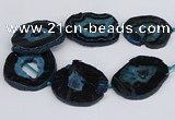 CNG3135 15.5 inches 30*35mm - 35*45mm freeform druzy agate beads