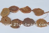 CNG3184 15.5 inches 40*45mm - 45*55mm freeform plated druzy agate beads