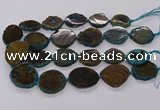 CNG3190 15.5 inches 22*30mm - 30*40mm freeform opal gemstone beads