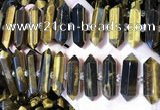 CNG3214 11*25mm - 12*45mm faceted nuggets yellow tiger eye beads