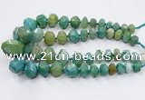 CNG3232 15.5 inches 12*16mm - 25*30mm nuggets agate beads