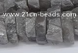 CNG3237 15.5 inches 20*25mm - 25*30mm nuggets plated white crystal beads