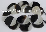 CNG3312 40*45mm - 45*55mm freeform druzy agate gemstone beads