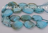 CNG3361 15.5 inches 30*35mm - 35*45mm faceted freeform agate beads