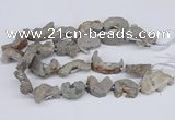 CNG3373 20*30mm - 30*45mm freeform plated druzy agate beads