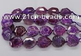 CNG3401 15.5 inches 28*30mm - 30*32mm faceted freeform agate beads