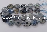 CNG3402 15.5 inches 28*30mm - 30*32mm faceted freeform agate beads