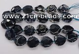 CNG3404 15.5 inches 28*30mm - 30*32mm faceted freeform agate beads
