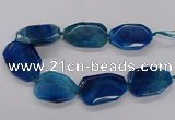 CNG3412 15.5 inches 38*50mm - 40*55mm faceted freeform agate beads