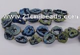 CNG3418 15.5 inches 18*25mm - 30*35mm freeform plated druzy agate beads