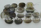 CNG3450 15.5 inches 30*35mm - 35*45mm freeform druzy agate beads