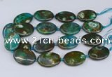 CNG3453 15.5 inches 30*40mm oval dragon veins agate beads