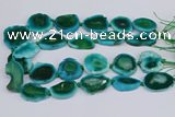 CNG3457 15.5 inches 20*30mm - 30*40mm freeform agate beads
