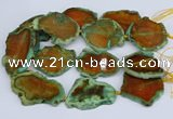 CNG3460 15.5 inches 35*40mm - 45*55mm freeform agate beads