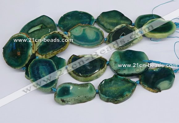 CNG3463 15.5 inches 35*40mm - 45*55mm freeform agate beads