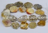 CNG3467 15.5 inches 30*35mm - 35*45mm freeform chrysanthemum agate beads