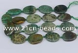 CNG3483 25*35mm - 30*40mm freeform chrysanthemum agate beads