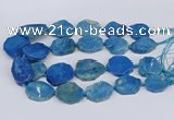 CNG3486 30*35mm - 35*45mm freeform chrysanthemum agate beads