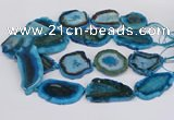 CNG3490 15.5 inches 35*40mm - 45*55mm freeform agate beads