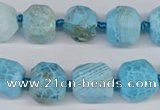 CNG3502 15.5 inches 12mm - 14mm faceted nuggets agate beads