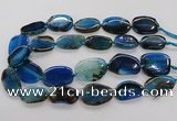 CNG3516 15.5 inches 20*25mm - 25*35mm freeform agate slab beads