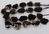 CNG3518 15.5 inches 20*25mm - 25*35mm freeform agate slab beads