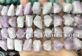 CNG3603 15.5 inches 13*20mm - 15*24mm faceted nuggets kunzite beads
