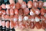 CNG3613 15.5 inches 13*20mm - 15*24mm faceted nuggets red agate beads
