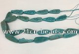 CNG3626 15.5 inches 12*35mm teardrop druzy agate beads
