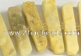 CNG3631 15.5 inches 5*30mm - 8*35mm sticks druzy agate beads