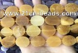 CNG3704 15.5 inches 15*20mm oval rough yellow jade beads