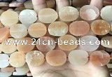CNG3705 15.5 inches 15*20mm oval rough red aventurine beads