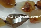 CNG383 15.5 inches 18*24mm – 25*32mm faceted nuggets agate beads