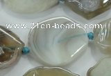 CNG451 15.5 inches 20*28mm - 30*42mm nuggets agate gemstone beads