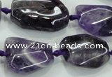 CNG466 15.5 inches 15*20mm - 20*35mm nuggets amethyst beads
