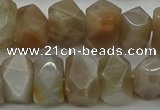 CNG5054 15.5 inches 10*14mm - 12*16mm faceted nuggets moonstone beads