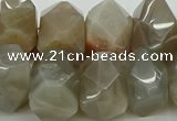 CNG5056 15.5 inches 15*20mm - 16*25mm faceted nuggets moonstone beads