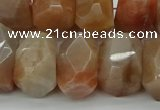 CNG5060 15.5 inches 15*20mm - 16*25mm faceted nuggets sunstone beads