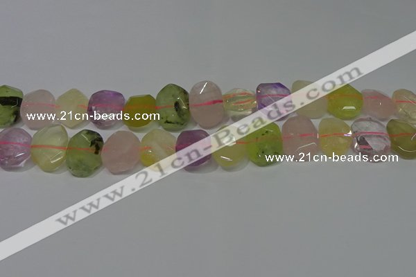 CNG5137 15.5 inches 15*18mm - 15*20mm faceted freeform mixed quartz beads
