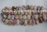 CNG5205 12*16mm - 15*20mm faceted nuggets pink opal gemstone beads