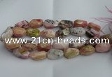 CNG5206 13*18mm - 15*25mm faceted nuggets pink opal gemstone beads