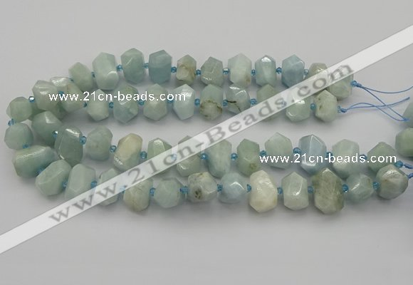 CNG5217 15.5 inches 12*16mm - 15*20mm faceted nuggets aquamarine beads