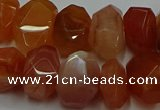 CNG5262 10*14mm - 13*18mm faceted nuggets red botswana agate beads
