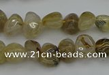 CNG5297 15.5 inches 5*8mm - 12*16mm nuggets golden rutilated quartz beads