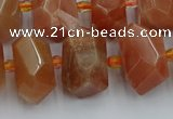 CNG5302 15.5 inches 12*16mm - 15*20mm faceted nuggets moonstone beads
