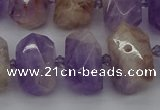 CNG5328 12*16mm - 15*20mm faceted nuggets lavender amethyst beads