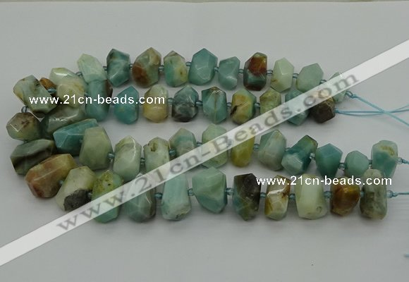 CNG5337 15.5 inches 12*16mm - 15*20mm faceted nuggets amazonite beads