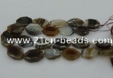 CNG5349 15.5 inches 25*35mm - 30*40mm faceted freeform agate beads