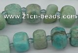 CNG5378 15.5 inches 8*12mm - 12*16mm nuggets amazonite beads