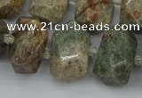 CNG5401 15.5 inches 12*16mm - 15*20mm faceted nuggets ghost gemstone beads